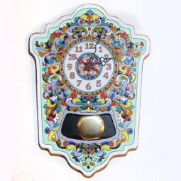 Большие настенные часы ручной работы с маятником 45*33 см РусАрт \ Ч-7003