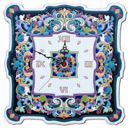 Большие настенные часы ручной работы квадратные 40*40 см РусАрт \ Ч-8001