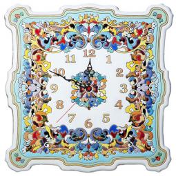 Большие настенные часы ручной работы квадратные 40*40 см РусАрт \ Ч-8004