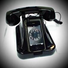 Трубка - подставка под телефон Playbox Retro Phone \\ PBT-25-BK купить 2,488.00