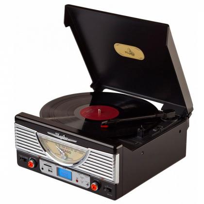 Виниловый проигрыватель-ретро Playbox Chicago   PB-103U-BK