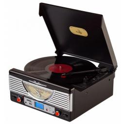 Виниловый проигрыватель-ретро Playbox Chicago \  PB-103U-BK