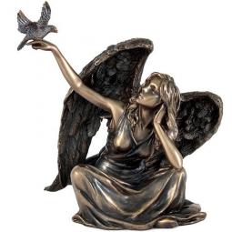 Статуэтка Ангел сидящий с голубем Veronese \ VWU75981A4AL