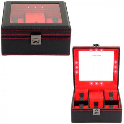 Шкатулка для часов Champ Collection Carbon \ 32058-2