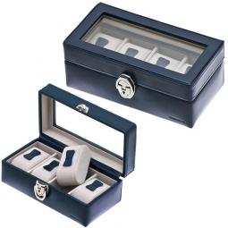Шкатулка  с прозрачной крышкой для хранения 4 часов  Davidts Chrome \ 378804-03