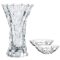 Хрустальный набор из вазы для цветов и подсвечников 3 пр. Sphere Nachtmann \ 99424