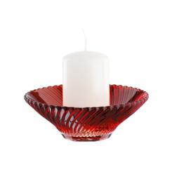 Хрустальный подсвечник со свечой 12.5 см красный Samba Nachtmann \ 82066
