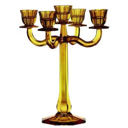Хрустальный подсвечник 5-ти рожковый 30 см желтый Ravello Nachtmann \ 71191