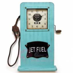 Настенно-напольные часы Бензозаправка бирюзовые GALAXY \ DA-005 Aquamarin