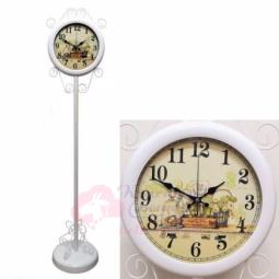 Напольные кварцевые белые часы металлические GALAXY \ AYP-810-1 White