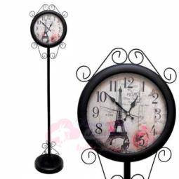 Напольные кварцевые черные часы металлические GALAXY \ AYP-810-5 Black