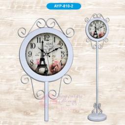 Напольные кварцевые белые часы металлические GALAXY \ AYP-810-2 White
