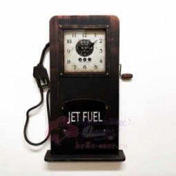 Настенно-напольные часы Бензозаправка черные часы GALAXY \ DA-005 Black