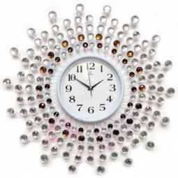 Настенные кварцевые белые часы металлические GALAXY \ AYP-1045В