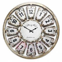 Настенные кварцевые белые состаренные круглые часы GALAXY \ 732-12