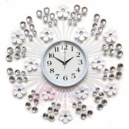 Настенные кварцевые белые часы металлические GALAXY \ AYP-1050 В