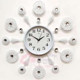 Настенные кварцевые белые часы металлические GALAXY \ AYP-1553 B