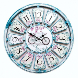 Настенные кварцевые бирюзовые круглые часы GALAXY \ 734-2