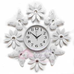 Настенные кварцевые белые часы металлические GALAXY \ AYP-1559 В