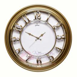Настенные кварцевые золотистые круглые часы GALAXY \ M-1965 BA