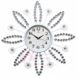 Настенные кварцевые белые часы металлические GALAXY \ AYP-1061 B