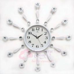 Настенные кварцевые белые часы металлические GALAXY \ AYP-1500 B