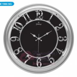 Настенные кварцевые серебристые с черным круглые часы GALAXY \ M-1965 SG