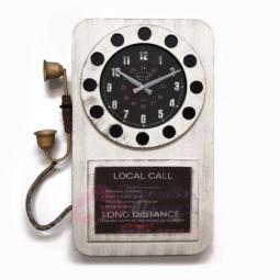 Настенные часы Телефон белые GALAXY \ DA-006 White