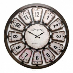 Настенные кварцевые коричневые круглые часы GALAXY \ 732-13