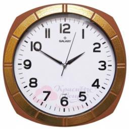 Настенные кваарцевые коричневые круглые часы GALAXY \ 112 X