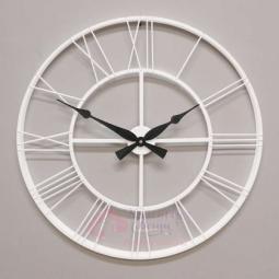 Настенные кварцевые белые часы металлические GALAXY \ DM-100 White