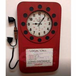 Настенные часы Телефон красные GALAXY \ DA-006 Red