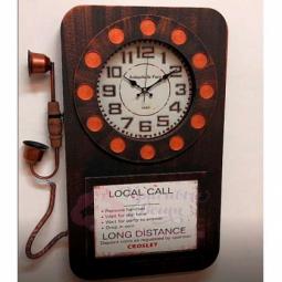 Настенные часы Телефон черные часы GALAXY \ DA-006 Black