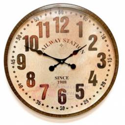 Настенные кварцевые коричневые часы металлические GALAXY \ DM-600-1