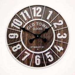 Настенные кварцевые бело-коричневые часы металлические GALAXY \ DM-50-4