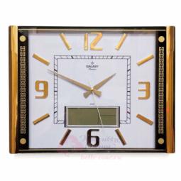 Настенные кварцевые золотистые цифровые часы GALAXY \ T-711-G