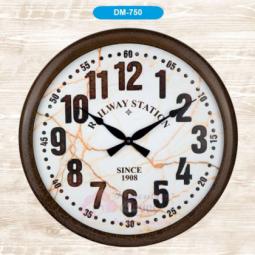 Настенные кварцевые коричневые часы металлические GALAXY \ DM-750-1