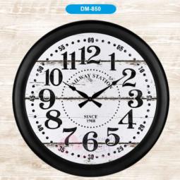 Настенные кварцевые черные часы металлические GALAXY \ DM-850-1