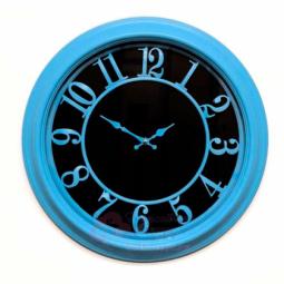 Настенные кварцевые голубые круглые часы GALAXY \ 1963-P-1