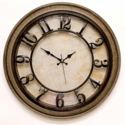 Настенные кварцевые коричневые круглые часы GALAXY \ 1965-KB