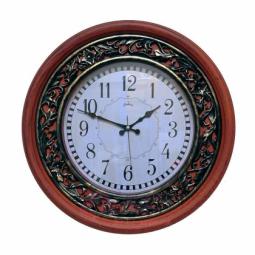 Настенные кварцевые коричневые круглые часы GALAXY \ 712 A