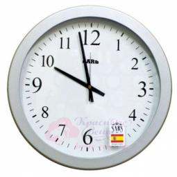 Настенные кварцевые серебристые круглые часы SARS \ 0166