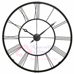 Настенные кварцевые черные часы металлические Гигант Династия \ 07-001