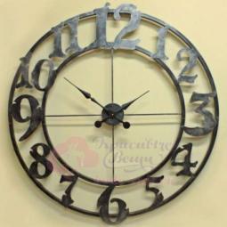 Настенные кварцевые черные часы металлические Галерея Династия \ 07-004a