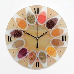 Настенные кварцевые круглые часы из стекла Ассорти Династия \ 01-075