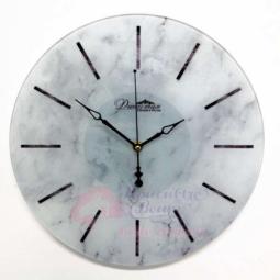 Настенные кварцевые белые круглые часы из стекла Династия \ 01-088