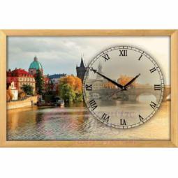 """Настенные часы из песка Династия 03-154 """"Прага"""""""