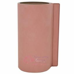 Стеклянная ваза для цветов обшитая кожей LIND DNA \ 9816