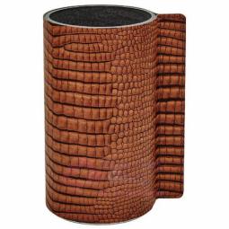 Стеклянная ваза для цветов обшитая кожей LIND DNA \ 9814