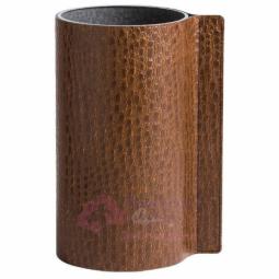 Стеклянная ваза для цветов обшитая кожей LIND DNA \ 98913